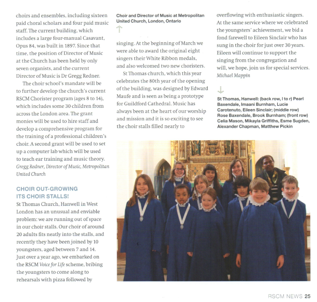 Article in RSCM's Church Music Quarterly