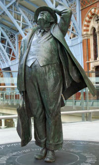 Statue at St Pancras Station