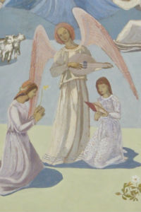 Detail of Children's Chapel Annunciation Reredos