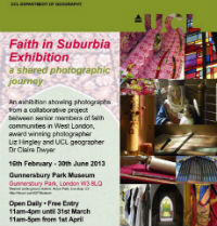 Detail of Faith in Suburbia Poster